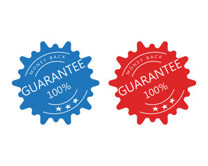 Guarantee Gold stamp sign vector