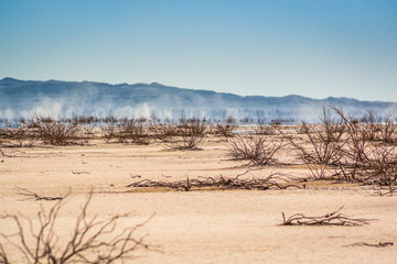 Erg Chigaga, Morocco - October 09, 2013. Dry lake Iriki in Sahara Desert