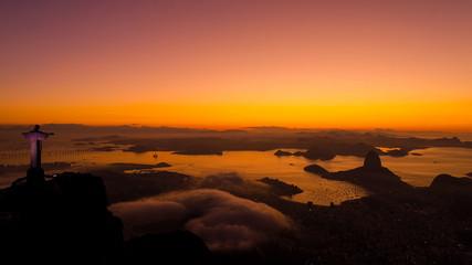 Dawning at Pao de Acucar - Rio de Janeiro