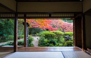 Poster Kyoto 京都 詩仙堂の紅葉