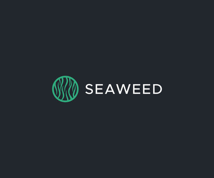 seaweed logo design element
