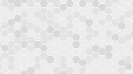 Textured of concrete with Honeycomb Grid tile random background or Hexagonal cell texture. in color white or gray or grey with difference border space.