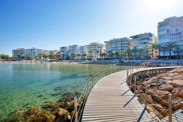 Llevant Beach, Spain. Salou is a major destination for sun and beach for European tourism. Salou, Costa Daurada. Fototapete