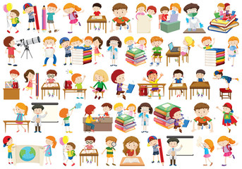 Set of different kids Wall mural