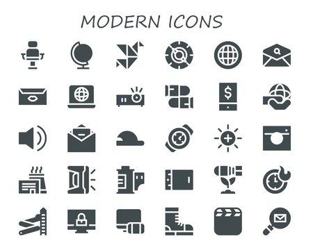 modern icon set