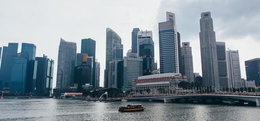 Singapore skyline urban landscape. Business district. Sityscape.