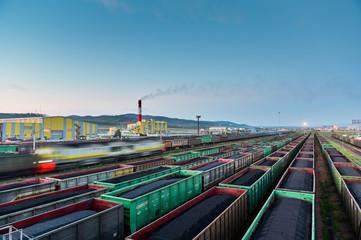 train coal mining export shipment