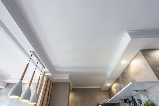 False ceiling in a small kitchen