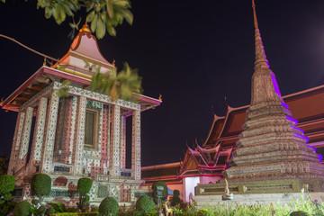 Wat Arun Temple at night in Bangkok, Thailand.