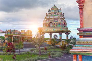 Fotobehang Bedehuis Mauritius. Hindu temple