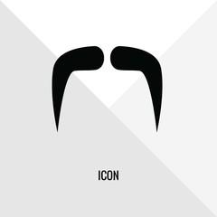 Mustache vector icon illustration sign