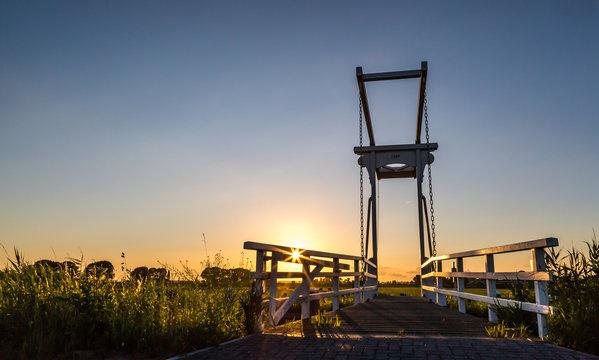 Sunset in the Dutch polder