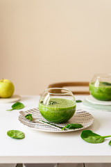 Healthy green smoothie. Superfood