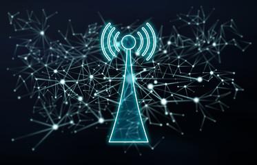 Wifi signal concept Fototapete