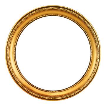 Gold Picture frame - clipping path