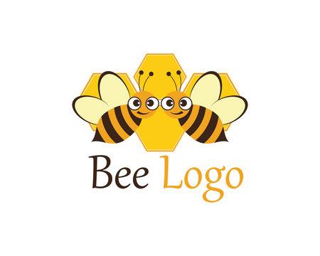 Bee Logo Template vector icon illustration