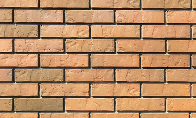 Brick wall in a new house as an abstract background