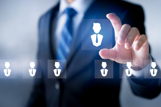Select good leader or Staff, Recruitment business and Human Resource Management