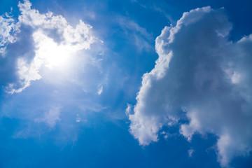 背景素材 青空と雲