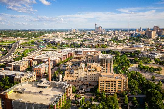 Aerial of Pearl District San Antonio Texas