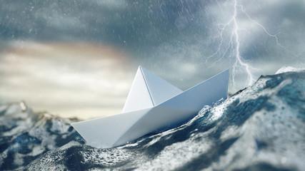 Risiko und Gefahr bei Unwetter und Sturm