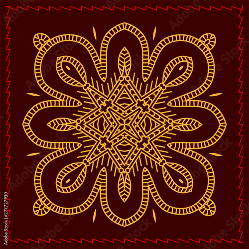 Folk Tribal Design Motif Wall Painting Stock Image And Royalty