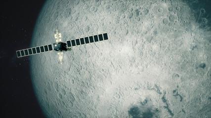 Satellite Telescope Passes Moon