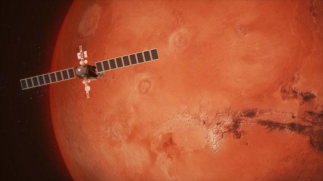 Satellite Telescope Passes Mars
