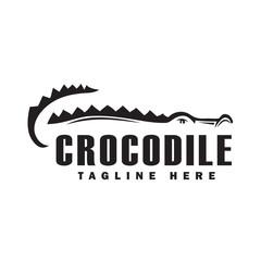 drawing shadow crocodile logo design inspiration