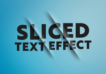 Sliced Text Effect Mockup