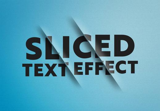 Sliced Text Effect Mockup