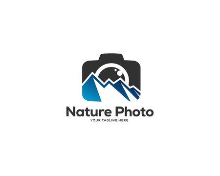 photography logo design vector, photo nature logo design template