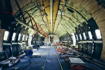Airplane under heavy maintenance