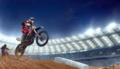 Motocross riders in action. Supercross. Motocross sport. Fototapete