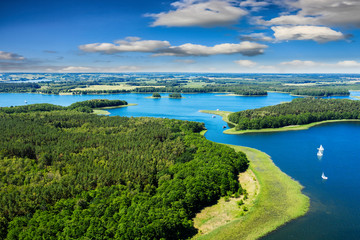 Masuria-the land of a thousand lakes in north-eastern Poland