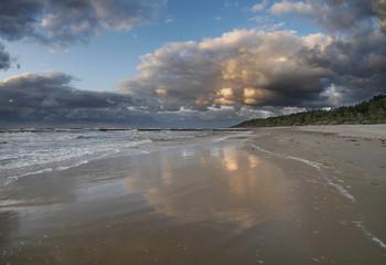 Morze zachód słońca - Dziwnówek Dziwnowo Klif