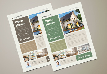 Green Real Estate Flyer Layout