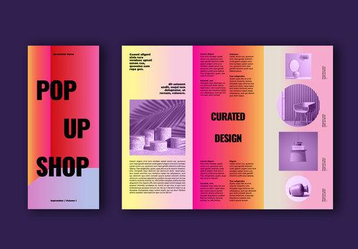 Colorful Shop Brochure Layout