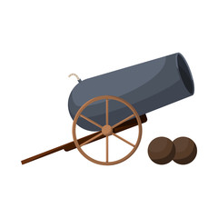 Vector illustration of cannon and war logo. Set of cannon and gun stock vector illustration.