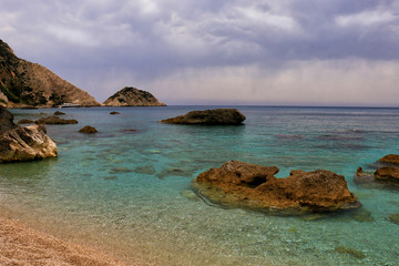 petani beach,Kefalonia island in Greece