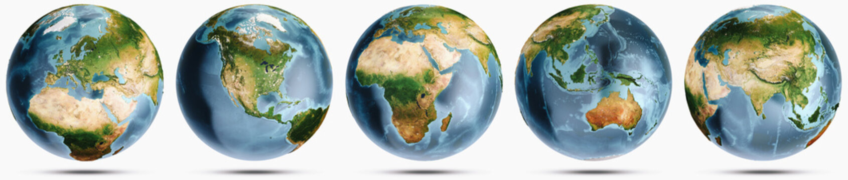 Planet Earth clear globe set