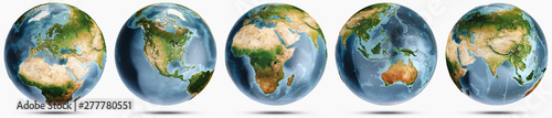 Wall mural Planet Earth clear globe set