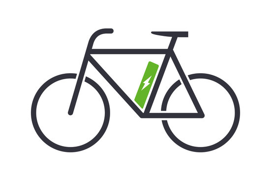Electric bike icon bicycle vector symbol