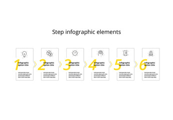 6 Step Infographic with Yellow Accents