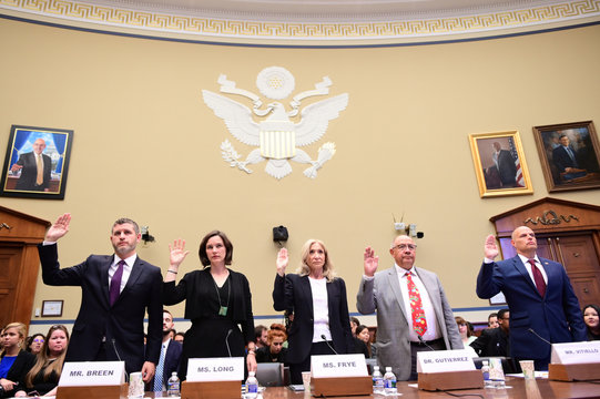 Panel sworn in to testify before a House Oversight Subcommittee on Civil Rights and Human Services