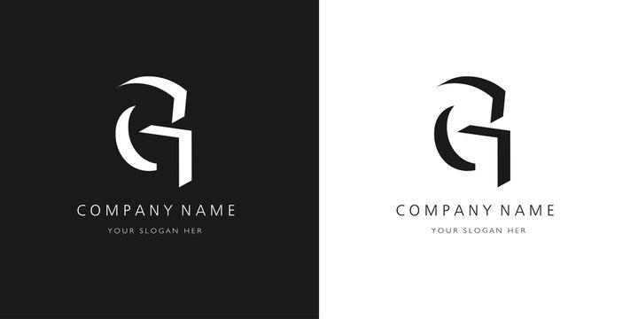 g logo, modern design letter character