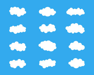 Poster Ciel Blue sky with cloud icon illustration