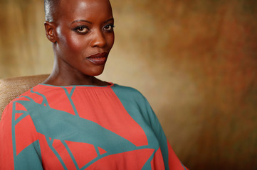 "Cast member Kasumba poses for a portrait while promoting the film ""The Lion King"" in Beverly Hills"