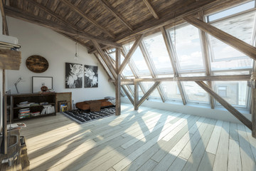 My place under the roof 02 (design) - 3d visualization