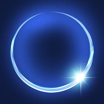 金環 リング 輪 環 閃光 光彩 ネオン 抽象